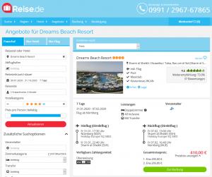 Screenshot Ägypten Deal Dreams Beach Resort