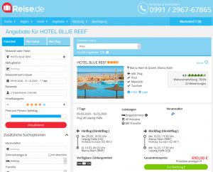 Screenshot Ägypten Deal Hotel Blue Reef