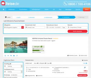 Screenshot Ägypten Deal Sentido Oriental Dream Resort