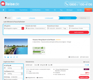 Screenshot Algarve Deal Pestana Viking Beach & Golf Resort