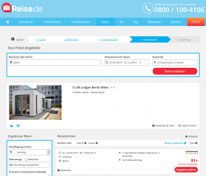 Screenshot Berlin Deal Club Lodges