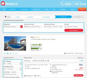 Screenshot Bulgarien Deal Hotel Astera Goldstrand