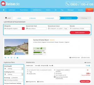 Screenshot Bulgarien Deal Sunrise All Suites Resort