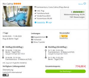 Screenshot Fuerteventura Deal Hotel Rio Calma