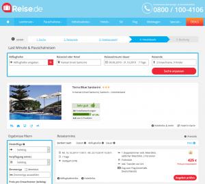 Screenshot Griechenland Deal Terra Blue Santorini
