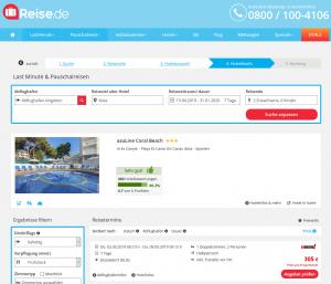 Screenshot Ibiza Deal azuLine Coral Beach