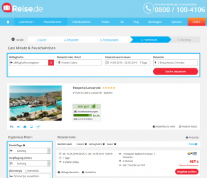 Screenshot Kanaren Deal Hesperia Lanzarote