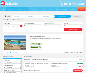 Screenshot Kap Verde Deal Iberostar Club Boa Vista