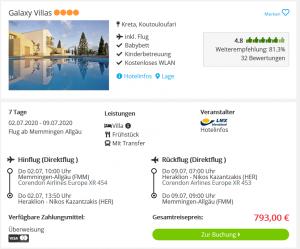 Screenshot Kreta Deal Galaxy Villas