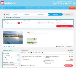 Screenshot Kroatien Deal 4* Hotel Pagus