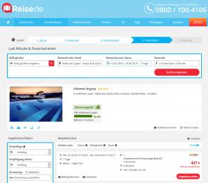 Screenshot Kroatien Deal Valamar Argosy