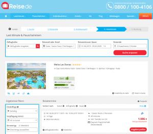 Screenshot Kuba Deal Melia Las Dunas