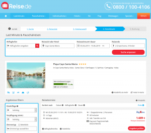 Screenshot Kuba Deal Playa Cayo Santa Maria