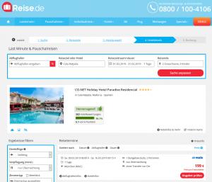 Screenshot Mallorca CO.NET Holiday Hotel
