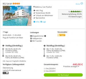 Screenshot Mallorca BQ Sarah