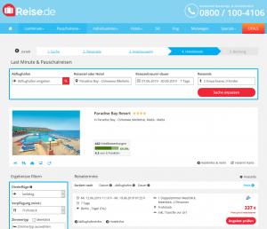 Screenshot Malta Deal Paradise Bay Resort