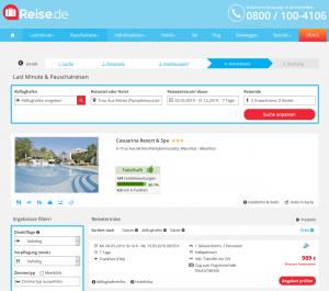 Screenshot Mauritius Deal Casuarina Resort & Spa