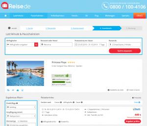 Screenshot Menorca Deal Hotel Princesa Playa