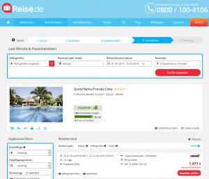 Screenshot Mexiko Deal Grand Bahia Principe Coba