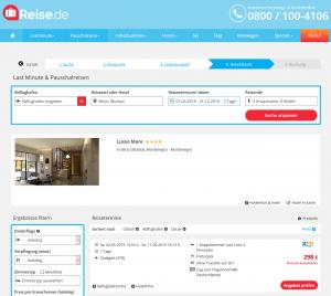 Screenshot Montenegro Deal Hotel Lusso Mare