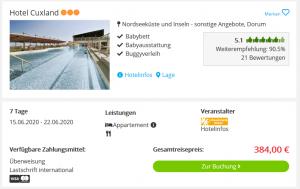 Screenshot Nordsee Deal Hotel Cuxland