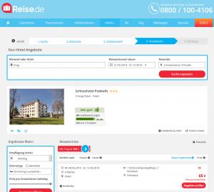 Screenshot Polen Deal Schlosshotel Podewils