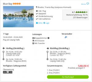 Screenshot Rhodos Deal Hotel Blue Bay