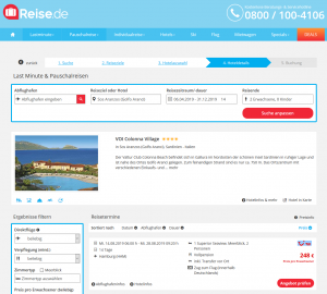 Screenshot Sardinien Deal VOI Colonna Village