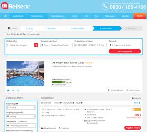Screenshot Teneriffa Deal LABRANDA Bahia Fanabe Suites