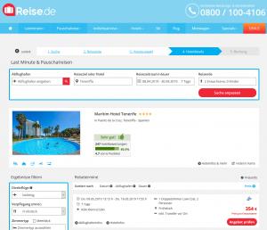 Screenshot Teneriffa Deal Maritim Hotel Tenerife
