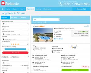 Screenshot Türkei Deal Hotel Simena