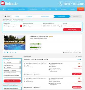 Screenshot Türkei Deal LABRANDA Excelsior Hotel Side