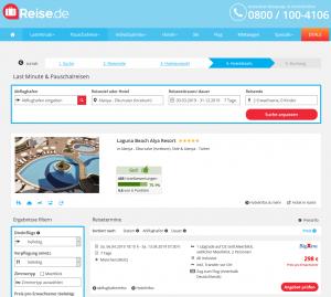 Screenshot Türkei Deal 5* Laguna Beach Alya Resort