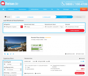Screenshot Türkei Deal Ramada Plaza Antalya