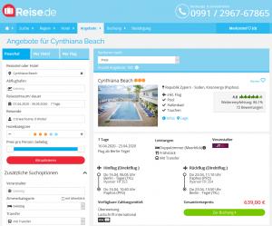 Screenshot Zypern Deal Cynthiana Beach Hotel