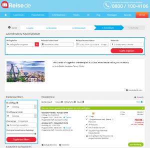 Screenshot Deals Türkei Hotel Aska