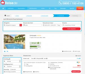 Screenshot Malta Deal