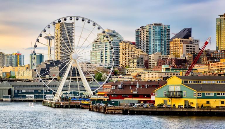Beste Aussichten verspricht Seattles Great Wheel.
