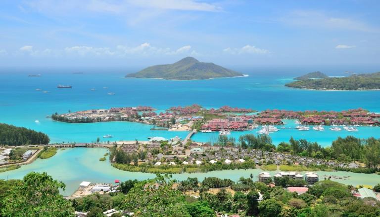 Mahe Island auf den Seychellen.