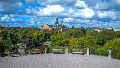 Ausblick vom Freiluftmuseum Skansen im Stadtteil Djurgården.