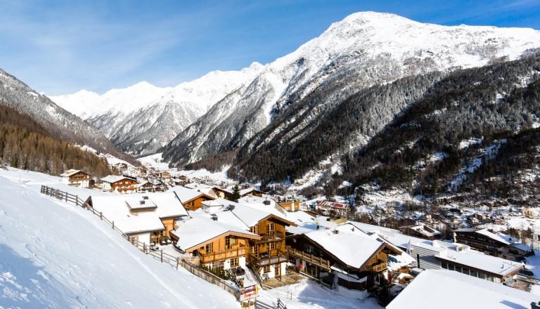 Das Ski Resort Sölden in Österreich.