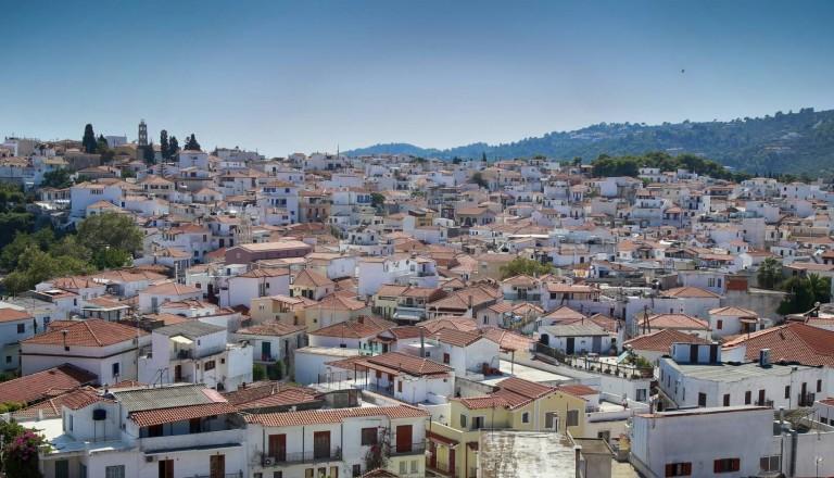 Skiathos Stadt Griechenland
