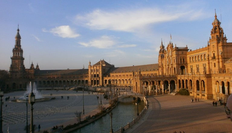 spanien sevilla plaza de espana
