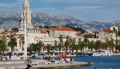 Der Diokletianpalast in Split gehört zum UNSECO-Weltkulturerbe.
