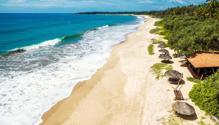 1300 Kilometer Küste in Sri Lanka.
