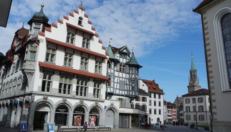 Die Altstadt von St. Gallen. Bodensee Reisen