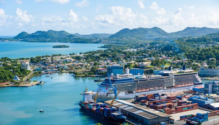 Castries St. Lucia Stadt