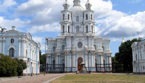 Die Smolmy Kathedrale im gleichnamigen Stadtteil. St.Petersburg