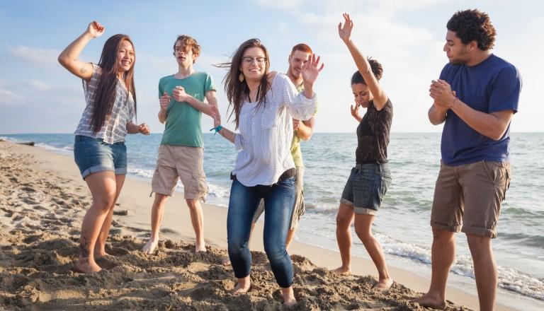 Partyurlaub Mallorca Strand Freunde