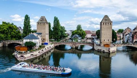 Das malerische Gerberviertel in Straßburg.